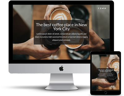 Web in 24 hours - Sample page - coffee